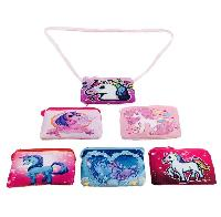 "7""x4"" Printed Unicorn Change Purse [Cross Body]"
